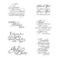 Trust God Clear Stamp Set