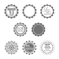 A Round Array Clear Stamp Set