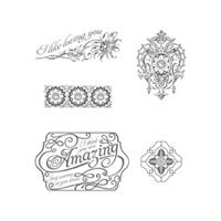 Lovely Romance Wood Stamp Set