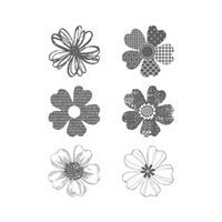 Flower Shop Wood Stamp Set