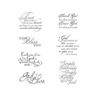 Trust God Wood Stamp Set