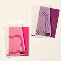 Fun Frames Textured Impressions Embossing Folder