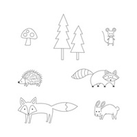 Life In The Forest Wood Stamp Set