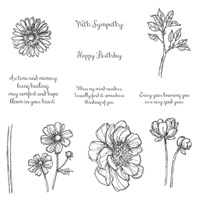 Bloom With Hope Wood-Mount Stamp Set