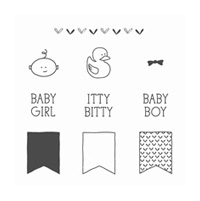 Itty Bitty Baby Clear-Mount Stamp Set