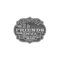 Friends Who Know Wood-Mount Stamp Set