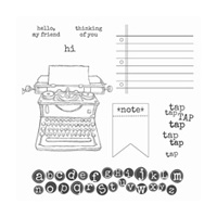 Tap Tap Tap Wood-Mount Stamp Set