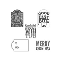 Merry Everything Wood-Mount Stamp Set