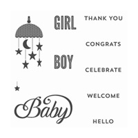 Celebrate Baby Clear-Mount Stamp Set