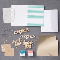 Glittered Greetings Kit