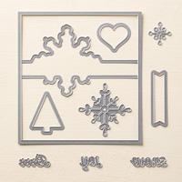 Snowflake Card Thinlits Dies