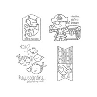 Hey, Valentine Wood Stamp Set