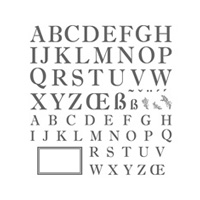 Sophisticated Serifs Photopolymer Stamp Set
