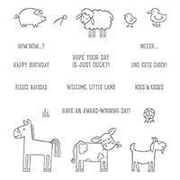 Barnyard Babies Wood-Mount Stamp Set