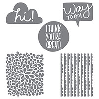 I Think You're Great Wood-Mount Stamp Set