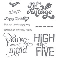That Thing You Did Photopolymer Stamp Set