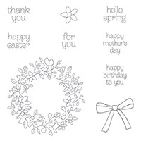 Circle Of Spring Photopolymer Stamp Set