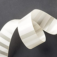 "Very Vanilla 1-1/4"" (3.2 Cm) Subtle Stripes Satin Ribbon"