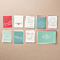 Hello December 2015 Project Life Card Collection