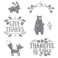 Thankful Forest Friends Clear-Mount Stamp Set