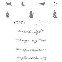 Jingle All The Way Wood-Mount Stamp Set