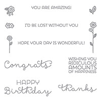 Cottage Greetings Clear-Mount Stamp Set