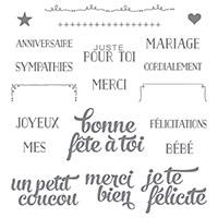 Coffret De Souhaits Photopolymer Stamp Set (French)