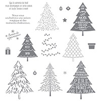 Sapins D'antan Photopolymer Stamp Set (French)