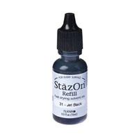 Jet Black Stazon Ink Refill