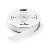 "Whisper White 5/8"" Satin Ribbon"""