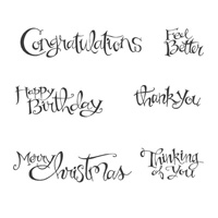 Sassy Salutations Wood-Mount Stamp Set