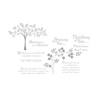 Thoughts & Prayers Clear-mount Stamp Set