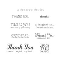 Lots Of Thanks Wood Stamp Set