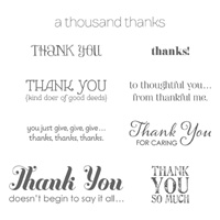 Lots Of Thanks Clear Stamp Set