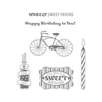 Cycle Celebration Wood Stamp Set