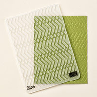 Zig Zag Textured Impressions Embossing Folder