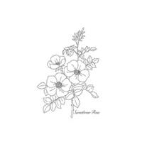 Sweetbriar Rose Wood-Mount Stamp Set