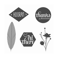 A Happy Hooray Clear-Mount Stamp Set
