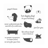 Hot Diggity Dog Clear-Mount Stamp Set