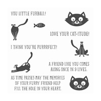 You Little Furball Clear-Mount Stamp Set