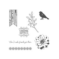 Choose Happiness Wood-Mount Stamp Set