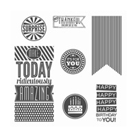 Amazing Birthday Clear-Mount Stamp Set