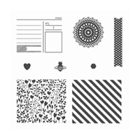 Bits And Pieces Wood-Mount Stamp Set