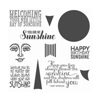 Ray Of Sunshine Wood-Mount Stamp Set