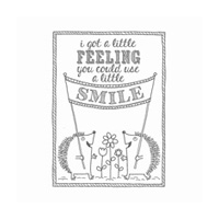 A Little Smile Wood-Mount Stamp Set