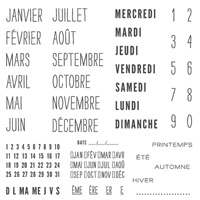 Project Life Au Jour Le Jour Photopolymer Stamp Set