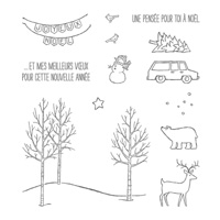White Christmas (French) Photopolymer Stamp Set