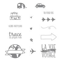 Project Life Globe-Trotteurs Photopolymer Stamp Set (French)