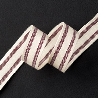 "Blackberry Bliss 5/8"" Striped Cotton Ribbon"