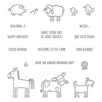 Barnyard Babies Wood-Mount Stamp Set